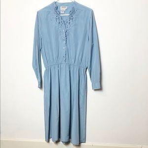 Anthony Richard's vintage drop waist blue dress